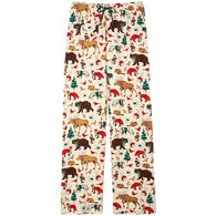 Hatley Little Blue House Women's Woodland Winter Wonderland Jersey Pajama Pant