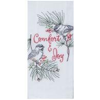 Kay Dee Designs Joy Chickadees Embroidered Flour Sack Towel