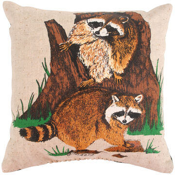 Maine Balsam Fir Raccoon 7x 7 Balsam Pillow