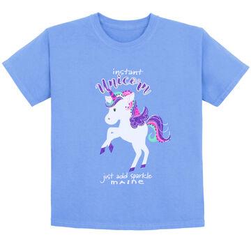 Lakeshirts Toddler Unicorn Glitter Short-Sleeve T-Shirt