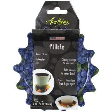 Andréas Decorative Blueberries Lillie Pad Coaster