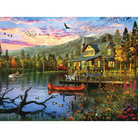 White Mountain Jigsaw Puzzle - Sunset Cabin