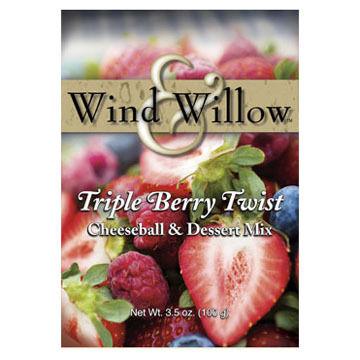 Wind & Willow Triple Berry Twist Cheeseball & Dessert Mix