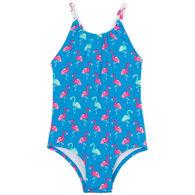 Hatley Girl's Fancy Flamingos Swimsuit
