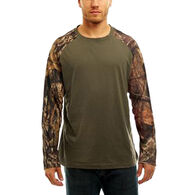 Trail Crest Men's Mossy Oak Raglan Long-Sleeve T-Shirt