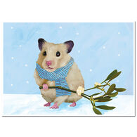 Allport Editions Hamster Mistletoe Boxed Holiday Cards