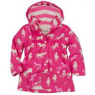 Hatley Girls' Classic Horses Raincoat