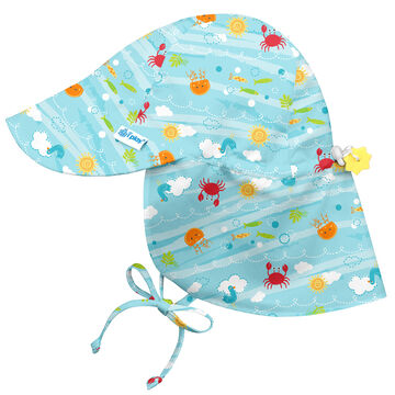 Green Sprouts Infant/Toddler Girls Flap Sun Protection Hat