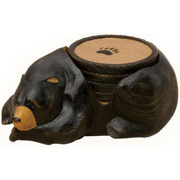 Big Sky Carvers Bear Coaster Set, 5 Piece