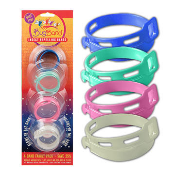 BugBand Insect-Repelling Wristband Family Pack