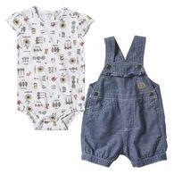 Carhartt Infant Girl's Sunflower Shortall Set, 2-Piece