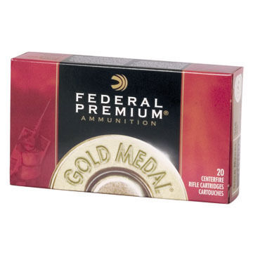 Federal Premium Gold Medal 30-06 Springfield (7.62x63mm) 168 Grain Sierra MatchKing BTHP Ammo (20)