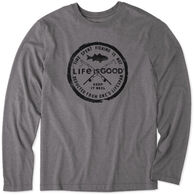 Life is Good Men's Time Spent Fishing Cool Tee Long-Sleeve Shirt