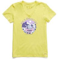 Life is Good Women's Bed & Breakfast Crusher Vee Short-Sleeve T-Shirt