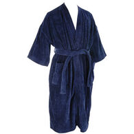 Majestic International Men's Basic Terry Velour Kimono Robe