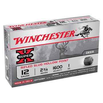 "Winchester Super-X 12 GA 2-3/4"" 1 oz. Rifled HP Slug Ammo (5)"