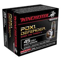 Winchester PDX1 Defender 45 Colt 225 Grain Bonded JHP Handgun Ammo (20)