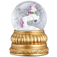Old World Christmas Prancing Unicorn Snow Globe