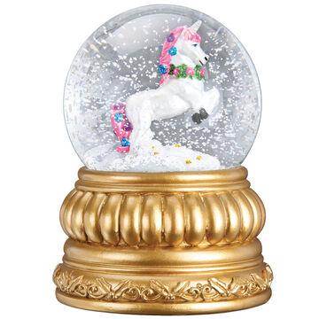 Old World Christmas Prancing Unicorn Snow Globe