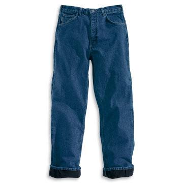 Carhartt Men's Relaxed Fit Straight Leg Fleece-Lined Jean