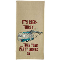Park Designs It's Beer Thirty Embroidered Dish Towel