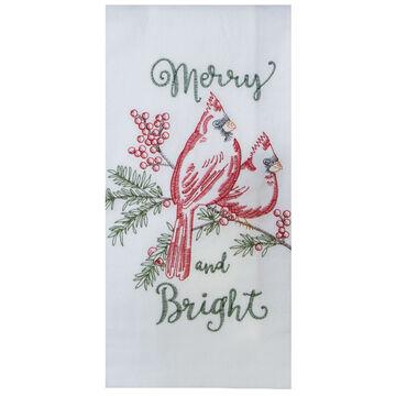 Kay Dee Designs Merry Cardinals Embroidered Flour Sack Towel