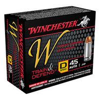 Winchester W Train & Defend 45 Auto 230 Grain JHP Defend (D) Handgun Ammo (20)