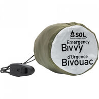 SOL Emergency Bivvy OD Green w/ Rescue Whistle & Tinder Cord