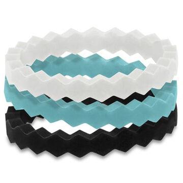 Qalo Women's Heidi Silicone Stackable Ring Set