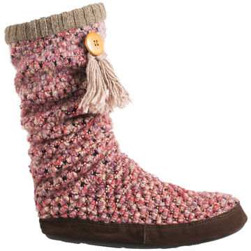 Acorn Womens Jam Tassel Boot Slipper