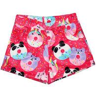 Candy Pink Girls' Animal Donut Pajama Short