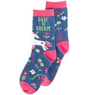 Karma Women's Dare To Dream Unicorn Crew Sock
