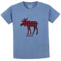 Artforms Youth Checkered Moose Short-Sleeve T-Shirt