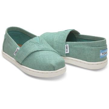 TOMS Toddler Girls Tiny Linen Alpargata Slip-On Shoe