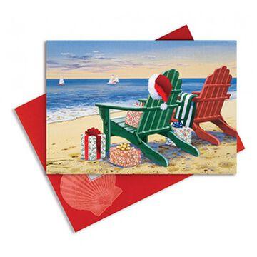 Cape Shore Red & Green Adirondacks Embellished Boxed Christmas Cards