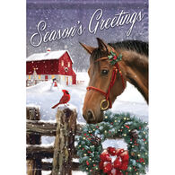 Carson Home Accents Barnyard Christmas Garden Flag