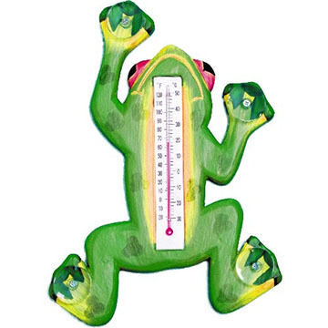 Bobbo Climbing Green Frog Window Thermometer