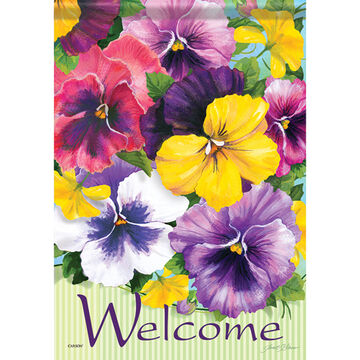 Carson Home Accents Positively Pansies Garden Flag