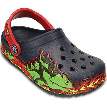 Crocs Boys' & Girls' CrocsLights Fire Dragon Clog
