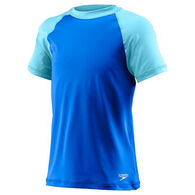 Speedo Girl's Colorblock Short-Sleeve Rashguard