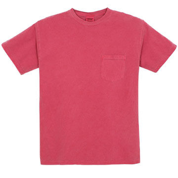 Alpha Mens Pigment-Dyed Pocket Short-Sleeve T-Shirt