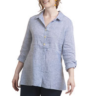 Habitat Women's Cross Dye Striped 3/4-Sleeve Top