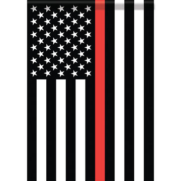 Carson Home Accents Thin Red Line Garden Flag