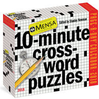 Mensa 10-Minute Crossword Puzzles 2018 Page-A-Day Calendar by Stanley Newman