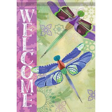 Carson Home Accents Flagtrends Delightful Dragonflies Garden Flag
