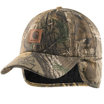 Carhartt Mens Camo Ear Flap Cap