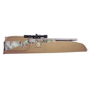 CVA Wolf 50 Cal. Stainless Steel / Realtree Hardwoods Green HD Muzzleloader w/ KonuShot 3-9x32mm Scope