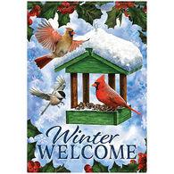 Carson Home Accents Birdfeeder In Snow Garden Flag