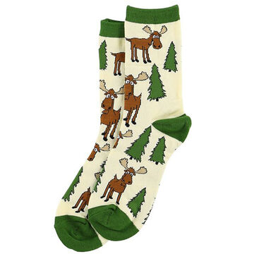 Lazy One Mens Moose Hug Crew Sock
