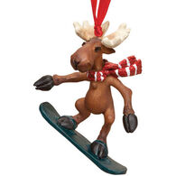 Big Sky Carvers Snowboarder Moose Ornament